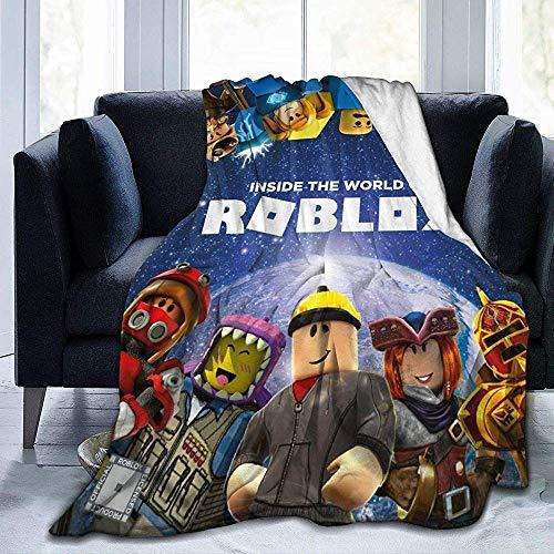 BLANKNTC Flauschige Kuscheldecke,Plüsch Couch Decke,Flanell Warme Decke,R0_Blox Ultra Soft Velvet Bed Warme Decke Für Schule,Couch,Wohnzimmer,Büro,Bett S
