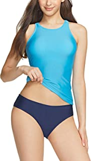 TSLA Women's Two Piece Bathing Suits, High Neck Halter Tankini Swimsuits, Surfing Swimwear Tankini Set