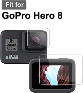 M.G.R.J® Tempered Glass Screen Protector for GoPro Hero 8 (Front and Back)
