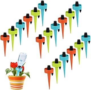Adjustable Plant Waterer Self Watering Spikes with Slow Release Control Valve Switch,Automatic Watering Device Stake Vacat...