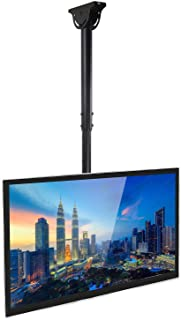 Mount-It! TV Ceiling Mount Bracket, Adjustable Height Full Motion 360 Deg Rotation Tilting Swiveling for Flat Panel LCD LE...