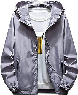 Men Hoodies Jacket Coat, Male Solid Long Sleeve Zipper Plus Size Sweatshirt Sport Coat