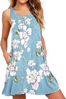 Women Summer Casual Swing T Shirt Dresses Beach Cover up Loose Dress