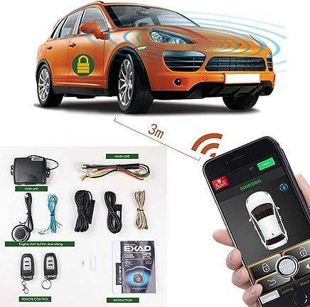 Car Starter App >> Amazon Com Remote Start Car Kit Phone 2 Way Keyless Entry Car Alarm
