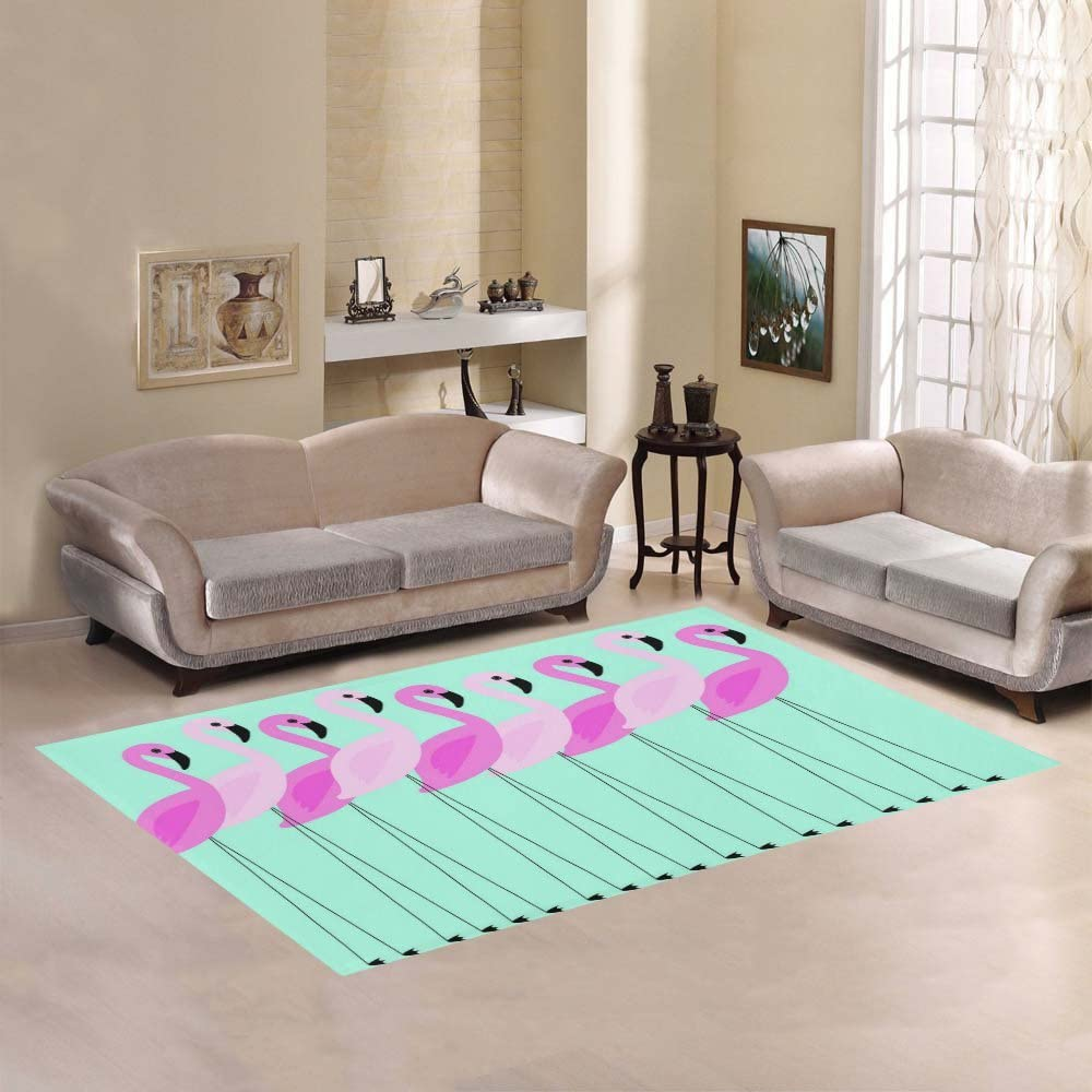 40% OFF Cheap Sale AnnHomeArt flamingo Area Modern Rug Deluxe Carpet7'x5'