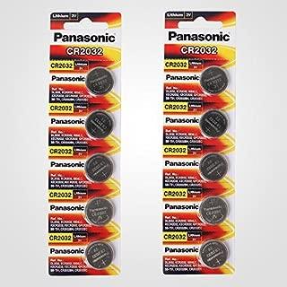 Panasonic CR2032 3V Lithium Battery 2PACK X (5PCS) =10 シングルユースバッテリー [並行輸入品]