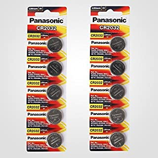 Panasonic CR2032 3V Lithium Battery - 10 batteries (2 Packs x 5pcs)