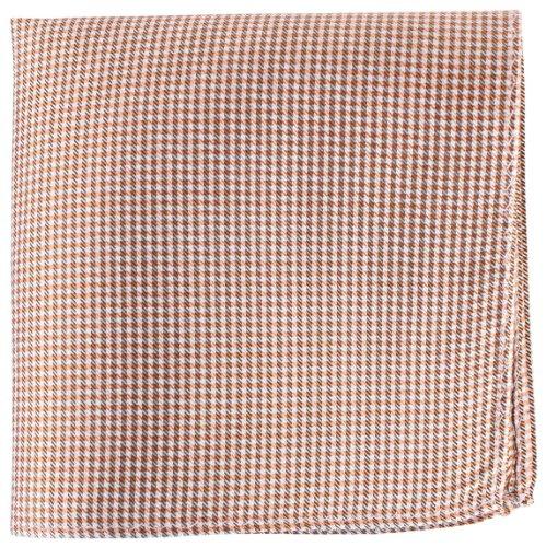 Knightsbridge Neckwear Orange/White/Black Checked Silk fazzoletto