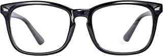 Maxjuli Blue Light Blocking Glasses,Computer Reading/Gaming/TV/Phones Glasses for Women Men(Shiny Black)