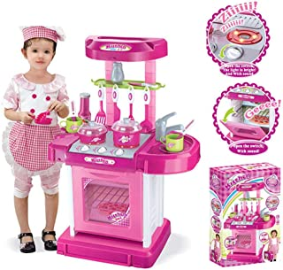 Play Kitchen Pots and Pans Set, Hamkaw Toddler Pretend Play Kitchen Set w/Pots, Pans, Other Kids Play Kitchen Utensils for...