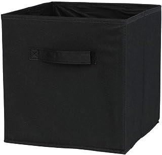 Tissu panier Bin Boîtes de rangement de rangement pliable cubes Organisateur avec poignées Fournitures Noir stockage