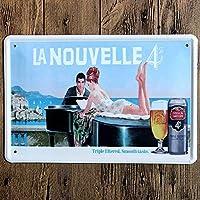 おいしいビールオリジナルレトロデザインティンメタルサインウォールアート|バー/レストランの厚いブリキプリントポスター壁の装飾