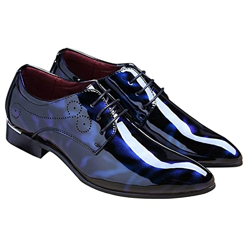 Girls patent leather dress shoes top designer label blue /& black colors NEW BOX