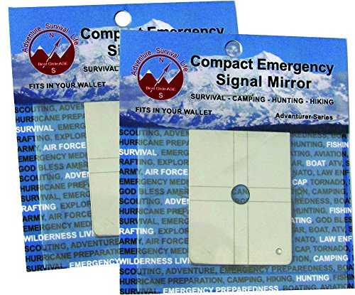 Best Glide ASE Compact Military Grade Stainless Steel Emergency Signal Mirror 2 Pack