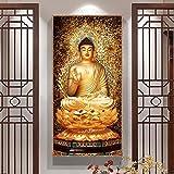 KWzEQ Pintura sin Marco Golden Buddha Lienzo Pintura artística Moderna Mural Imagen Decorar Sala de Estar familiarAY7005 60X120cm