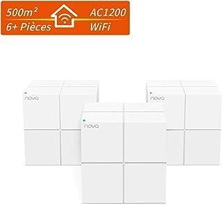 Tenda MW6 Nova Mesh WiFi System Dwuzakresowy AC1200, do 6000 stóp kwadratowych. Gigabitowy router Wi-Fi i ekstender, stero...