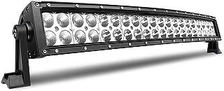 Barra de luz led curvada de 22 pulgadas 120W combo de inundación puntual dual fila luces de trabajo de conducción led fuera de la carretera para camioneta ATV Barco