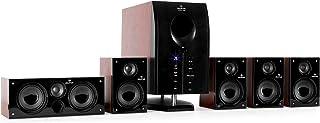 auna Areal 525 WD Sistema Sonido Envolvente 5.1 - Home Cinema Surround , 125W RMS , Subwoofer emisión Lateral 5,25