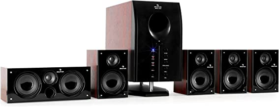 auna Areal 525 WD Sistema Sonido Envolvente 5.1 - Home Cinema Surround , 125W RMS , Subwoofer emisión Lateral 5,25
