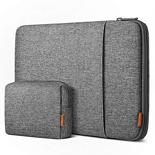 Inateck Case Sleeve 16 Inch Compatible with MacBook Pro 16 Inch 2019, MacBook Pro 15 Inch 2013-2015, MateBook D15, Chromebook ThinkPad 14, Surface Book 2, Surface Laptop 3 15 Inch - Grey