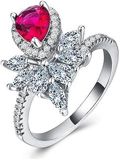 CHARHODEN Women's White Gold Carat Craft Diamond Ring -US