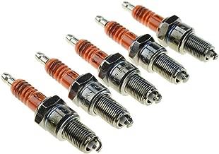 GOOFIT 5piece/set F7TC Spark Plugs for Honda GX120 GX160 GX200 GX240 GX270 GX340 GX390 Engine Generator Lawnmower Tractor Rototiller Water Pump Go Kart Mini Bike