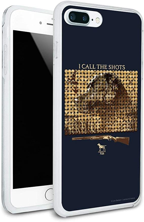I Call The Shots Shotgun Lab Labrador Retriever Dog Hunting Hunter Protective Slim Fit Hybrid Rubber Bumper Case for Apple iPhone 7 and 7 Plus