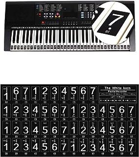 Ajcoflt Teclado de Piano Teclas Pegatinas para Principiantes para 88//61//54 Teclas Piano
