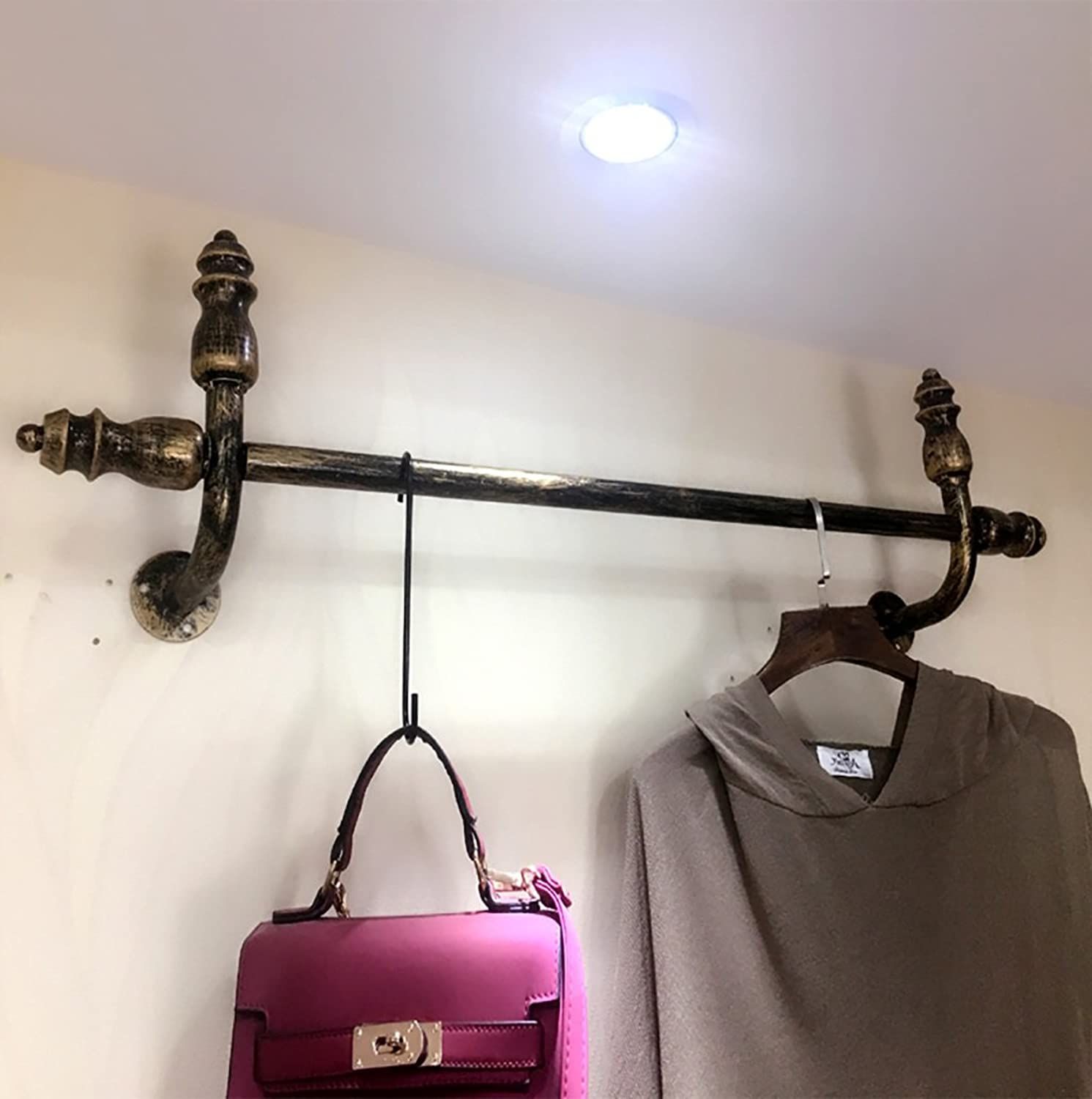 Coat Rack Clothing Store Display Rack, Wall-Hanging Women's Clothing Store Shelves, Hanging Clothes Rack 100 120cm (Size   100CM)