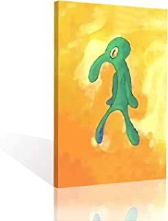 Bold and Brash Canvas Squidward Wall Art Home Decoration Artwork Stretched And Framed Ready To Hang inspirational Home Decor for Living Rome Bedroom (Bold and Brash, 16x20)