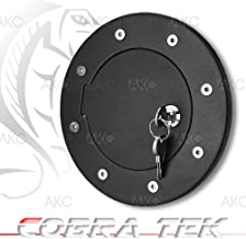 03-05 Hummer H2 Black Gas door with lock