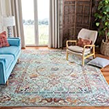 Safavieh Luxor Collection LUX330K Area Rug, 8' x 10', Turquoise/Aqua