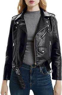 Manteau Court de Moto coréenne Nouveau Printemps Veste pour Femme La Veste en Cuir Auto-cultivée Cuir pour Femme Bright