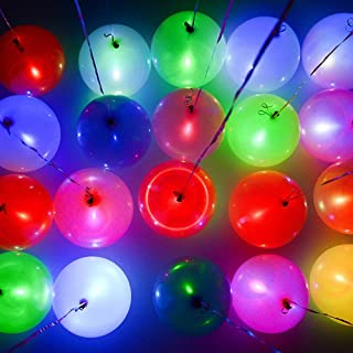 Homecute LED Light Up Celebration Balloon (25Pieces Set) - Multi Color