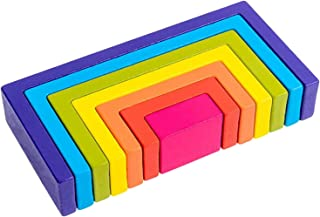 LuDa Educational Toy Building Blocks, Wooden Rainbow for Learning, Puzzle Toy - Style2