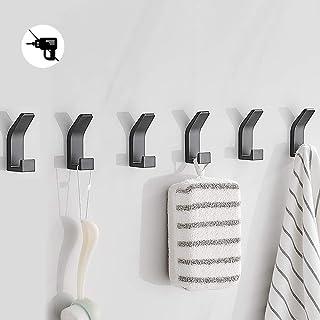 Bogeer 6 stuks handdoekhaken, plakhaken, wandhaken voor kledingkast, badkamer, toilet, handdoekhaken, waterdicht, zonder b...