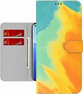 TYWZ Färgglad målning plånboksfodral för Huawei P50 Pro, vattenfärg design folio flip PU-läder med korthållare fack stativ...