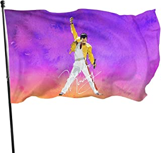 "GreatFBackashion Freddie Mercury Seasonal Garden Flag Set for Outdoors 35"" X 60"" Easter Spring Summer Welcome Yard Decor D..."