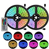 Tiras LED 10M RGB, Tira de luces LED 300 Leds 5050, Kit de Tiras LED que Cambian de Color con...