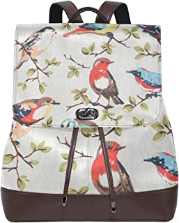 FANTAZIO Mochila Birds and Trees Bolsa de Viaje
