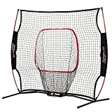 Franklin Sports MLB Flexpro Training Backstop Net and Pitching Target - Baseball and Softball Batting Practice Net - Portable Sport Net and Target - 5x5