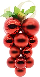 Saim Christmas Ball Ornaments Shatterproof for Christmas Tree Decorations Wedding Party Home Decor Red and Green 8inches Height