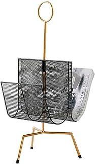 マガジンラック - 鉄製アートマガジンラック 新聞ラック ディスプレイラック 棚収納ラック 情報フレーム 新聞ラック