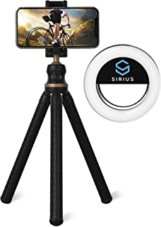 SIRIUS STAR Tripod Stand with Selfie Ring Light | Tripod Stand for Camera, Mobile Phones, and Tablets | Portable Selfie Li...