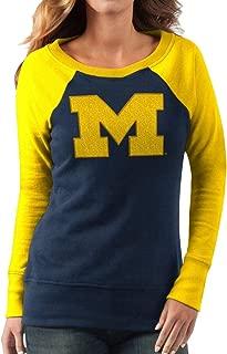 G-III 4Her Women's Michigan Wolverines Top Ranking Tunic NCAA Sweatshirt - Blue/Maize (Large)