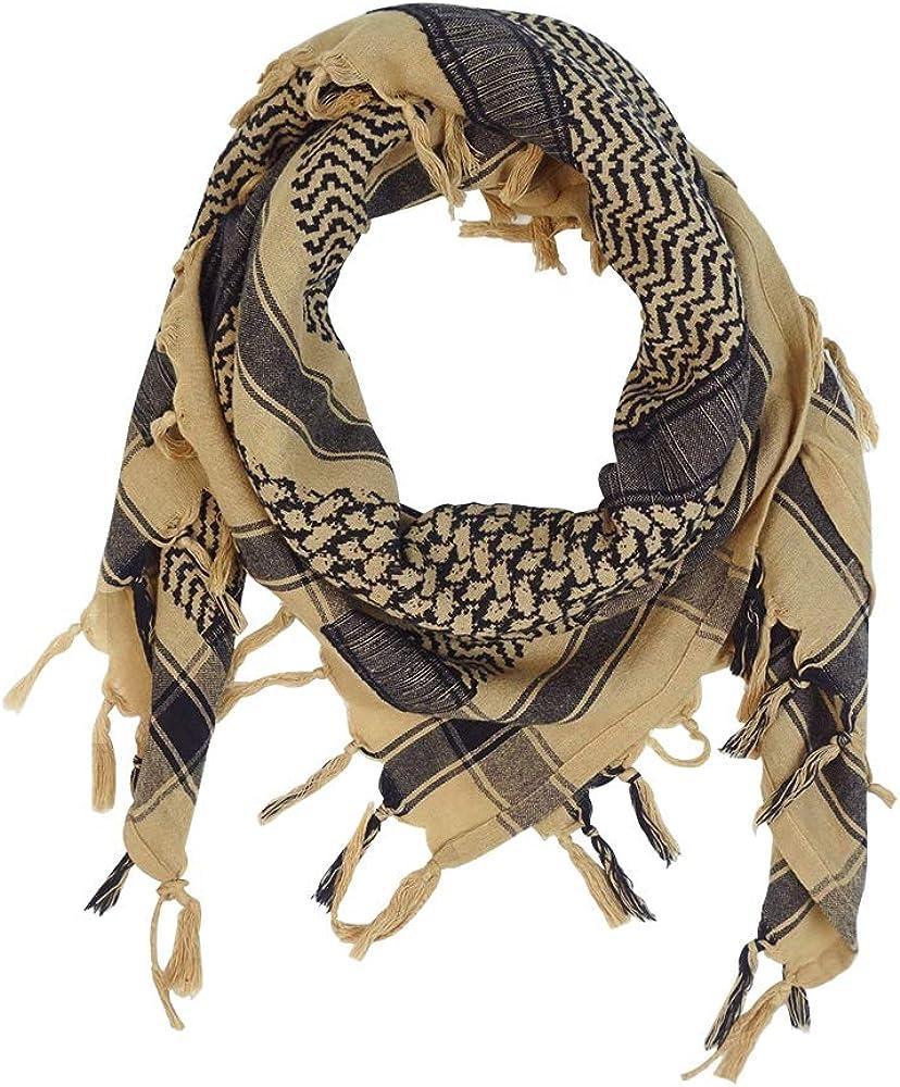 List price MMCTION Max 77% OFF Cotton Shemagh Tactical Keffiyeh Desert Hea Scarf Tartan