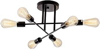 Plafonniers multiples en fer forgé, SOZOMO 6 luminaires d'intérieur en métal ramifié semi-encastré, plafonniers modernes p...