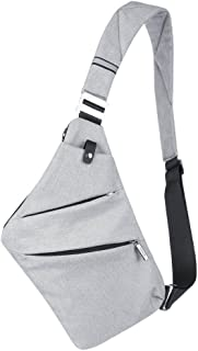 Jeerui Sling Bag Crossbody Beiläufige Segeltuch Umhängetasche Outdoor Sports Preferred Freizeit Diebstahlsicherung Multifunktion Rucksack Zwei Farben