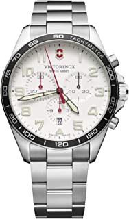 Victorinox field watch Mens Analog Quartz Watch with Stainless Steel bracelet V241856