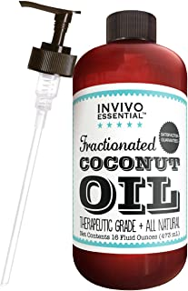 Fractionated Coconut Oil USA Premium Therapeutic Grade 16 Ounce Liquid Carrier Oil for Aromatherapy Relaxing Massage and Diluting Essential Oils with Pump and eBook